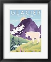 Framed Glacier National Park