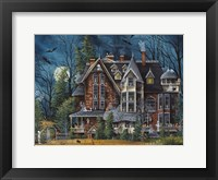 Framed Decorating the Haunted House