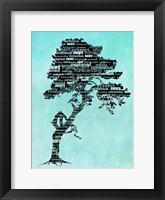 Framed Bhakti-Bodhi Tree-Blue