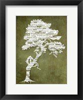 Framed Bhakti-Bodhi Tree-Green