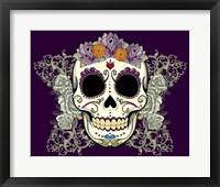 Framed DOD-Flower Skull