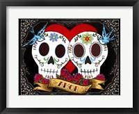 Framed DOD-Love Skulls