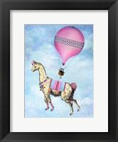Framed Flying Llama