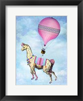 Framed Flying Llama