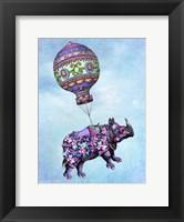 Framed Flying Rhino