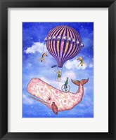 Framed Flying Whale Circus