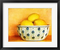 Framed StillLife-Bowl of Lemons