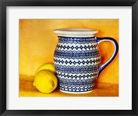 Framed StillLife-Pitcher With Lemons