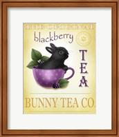 Framed Blackberry Tea Bunny