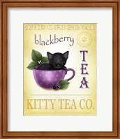 Framed Blackberry Tea Cat