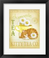 Framed Chamomile Tea Cat