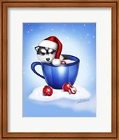 Framed Christmas Coffee Dog