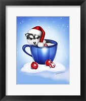 Framed Christmas Coffee Dog