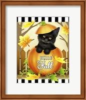 Framed Hello Fall Cat