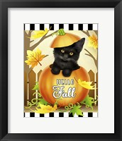 Framed Hello Fall Cat