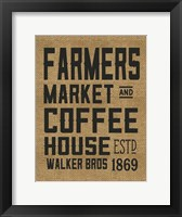Framed Farmers Market Coffee House