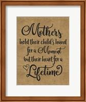 Framed Mothers Hold Hands