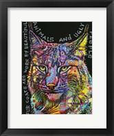 Framed Psychedelic Bobcat