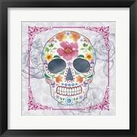 Framed Deco Skull