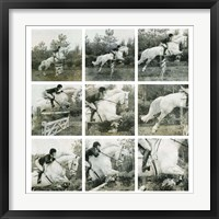Framed Jumping Horse