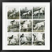 Framed Jumping Horse