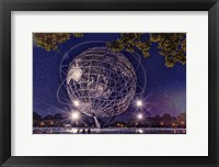 Framed Flushing Meadows Unisphere