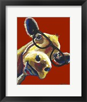 Framed Cow Gertrude Red