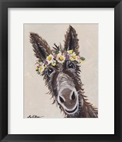 Framed Donkey Rufus Flower Crown