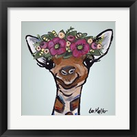 Framed Giraffe Flower Crown