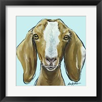 Framed Goat Square Blue