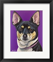 Framed Rat Terrier On Purple