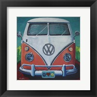 Framed Volkswagen Van Bohemian Dream