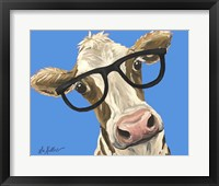 Framed Cow Glasses Blue
