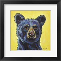 Framed Black Bear Bernard