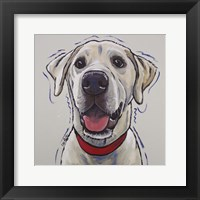 Framed Yellow Lab Hank