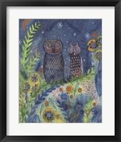 Framed Two Owls