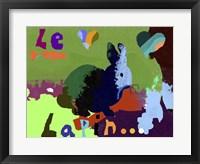 Framed Le Lapin