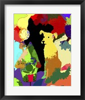 Framed Dog With Abstract Background