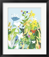 Framed Flowers And Butterflies