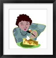 Framed Lady With Cheesecake
