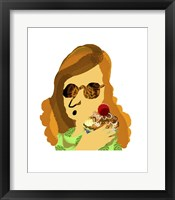 Framed Lady With Cupcake