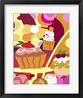 Framed Desserts With Abstract Background