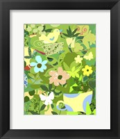 Framed Garden Delight With Teacup