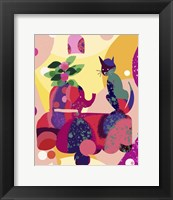 Framed Still Life With Cat And Elephant