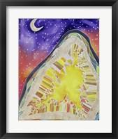 Framed Citrine and Stars