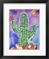 Framed Spirit Quartz Cactus