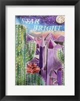 Framed Amethyst Cactus Quartz