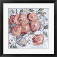 Framed Hydrangeas and Roses Floral Party