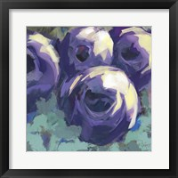 Framed Passion for Purple Abstract Floral