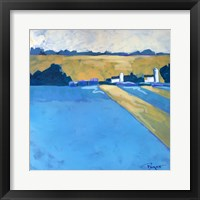 Framed Serenity on the Farm - Blue